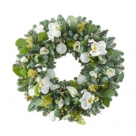 Christmas arrangement: Christmas wreath white, Christmas arrangement: Christmas wreath white