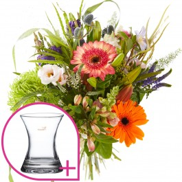 Combi bouquet: Appreciation including a vase Perfect Fit S f, Combi bouquet: Appreciation including a vase Perfect Fit S f