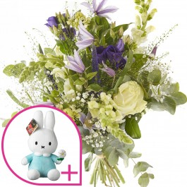 Bouquet: birth bouquet boy, incl. Miffy Blue, Bouquet: birth bouquet boy, incl. Miffy Blue
