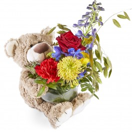Funeral: Wonderfully beautifull Funeral Bouquet with bear, Funeral: Wonderfully beautifull Funeral Bouquet with bear