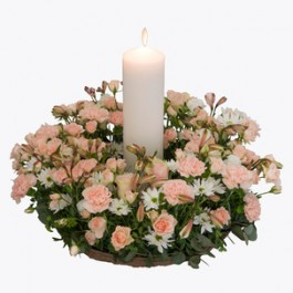 Funeral Wreath with a candle, Funeral Wreath with a candle