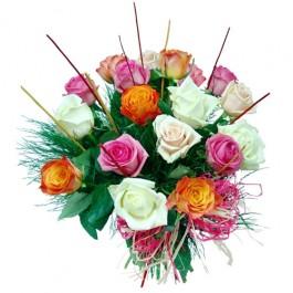 18 kolorowych róż, 18 kolorowych róż