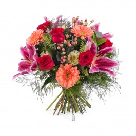 Bouquet of Roses with Lilies, Bouquet of Roses with Lilies