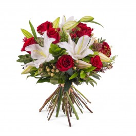 Arrangement of Roses with Lilies, Arrangement of Roses with Lilies