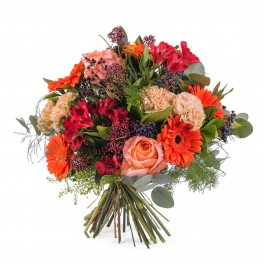 Mixed bouquet in orange shades, Mixed bouquet in orange shades