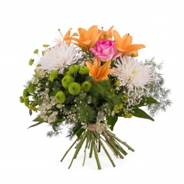Spring Bouquet with Anastasias and Lilies, Spring Bouquet with Anastasias and Lilies