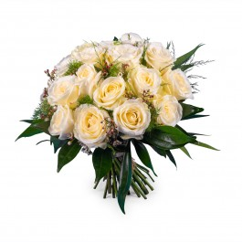 20 Short-stemmed White Roses, 20 Short-stemmed White Roses