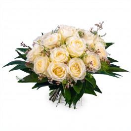 15 Short-stemmed White Roses, 15 Short-stemmed White Roses