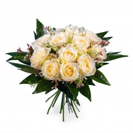 12 Short-stemmed White Roses, 12 Short-stemmed White Roses
