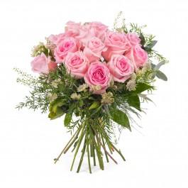 15 Short-stemmed Pink Roses, 15 Short-stemmed Pink Roses