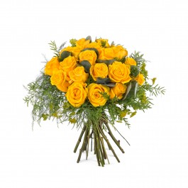 20 Short-stemmed Yellow Roses, 20 Short-stemmed Yellow Roses