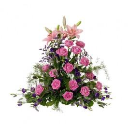 High funeral arrangement, Rosa-Lila, High funeral arrangement, Rosa-Lila