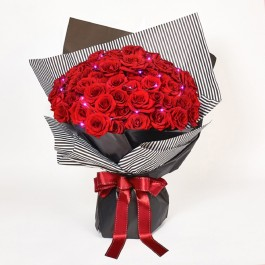 Passionately Yours - 99 Red Roses Bouquet, Passionately Yours - 99 Red Roses Bouquet