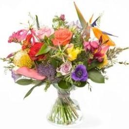 Polychrome bouquet, excl. vase, Polychrome bouquet, excl. vase