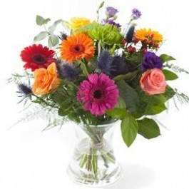 Mixed colours bouquet, excl. vase, Mixed colours bouquet, excl. vase