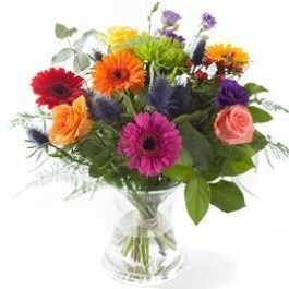 Mixed colours bouquet, excl. vase, Mixed colours bouquet, excl. vase
