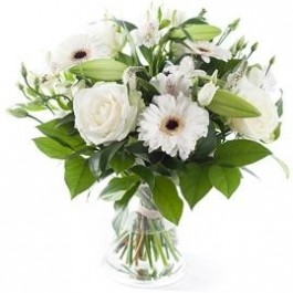 White mixed bouquet, excl. vase, White mixed bouquet, excl. vase