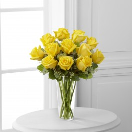 The Yellow Rose Bouquet by FTD® - VASE INCLUDED, The Yellow Rose Bouquet by FTD® - VASE INCLUDED