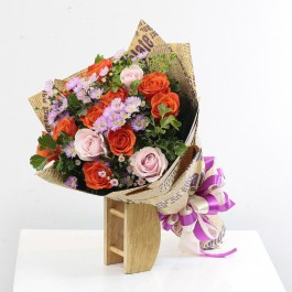 Rosy Mixed Bouquet, Rosy Mixed Bouquet