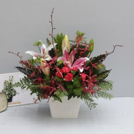 Red Pink and Green Arrangement, Red Pink and Green Arrangement