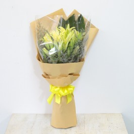 Yellow lily Bouquet, Yellow lily Bouquet