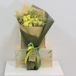 Yellow Roses Presentation Bouquet, Yellow Roses Presentation Bouquet