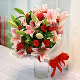 Roses and Lilies Bouquet, Roses and Lilies Bouquet