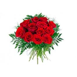 12 rosas de tallo corto, AR#12RS 12 rosas de tallo corto