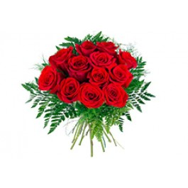 12 rosas de tallo corto, SE#12RS 12 rosas de tallo corto