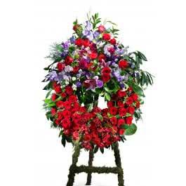 Corona roja, Corona Clásica en tonos rojos con cabecero