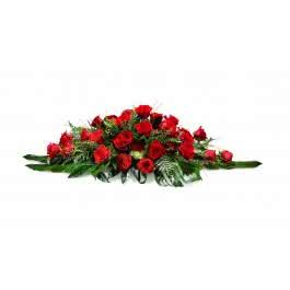 Almohadon rojo, Almohadón de rosas rojas