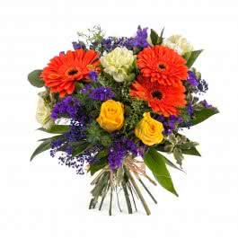 Caspio, Arreglo con Gerberas y rosas