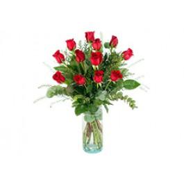 12 rosas de tallo large, MX#12RL 12 rosas de tallo large