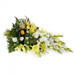Ramo funerario con cinta, SK#FLBR Ramo funerario con cinta