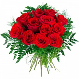 12 rosas de tallo corto, SK#12RS 12 rosas de tallo corto