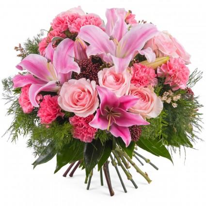 Ramo Dominica, Ramo variado con rosas y lilium