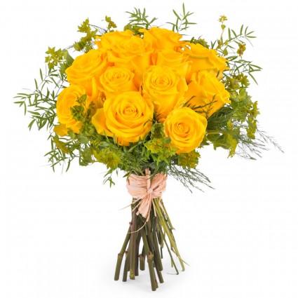 Amanecer, Rosas Amarillas de Tallo Corto