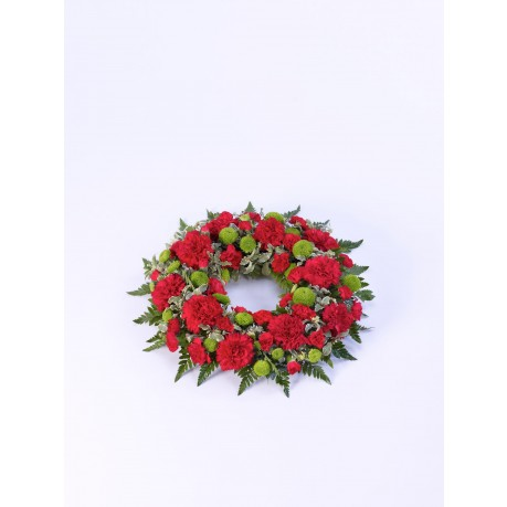 Classic Wreath  Red and Green, GB#500447.Classic Wreath  Red and Green