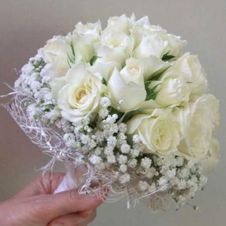 white wedding bouq, white wedding bouq