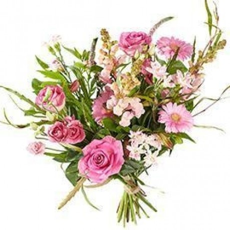 Bouquet Mixed pink flowers; excl. vase, Bouquet Mixed pink flowers; excl. vase