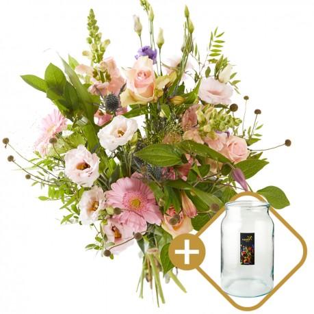 Combi bouquet: Especially for you including a vase Perfect V, Combi bouquet: Especially for you including a vase Perfect V