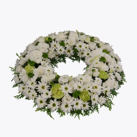 Funeral Wreath with ribbon, Funeral Wreath with ribbon
