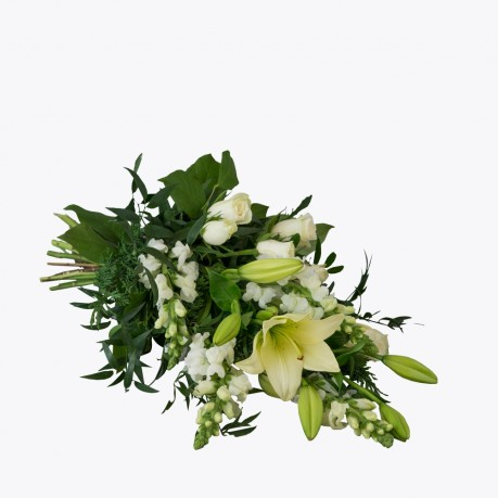 Funeral Bouquet with texted ribbon, Funeral Bouquet with texted ribbon
