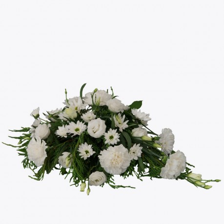 Funeral Arrangement with texted ribbon, Funeral Arrangement with texted ribbon