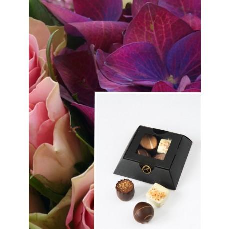 Bouquet + PR mini Chocolate, Bouquet + PR mini Chocolate