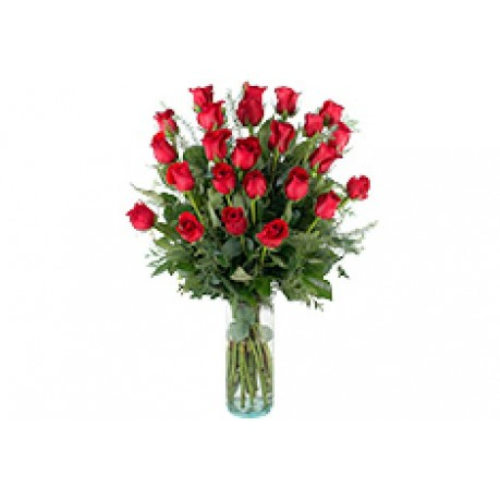 24 rosas de tallo large, GB#24RL.24 rosas de tallo large