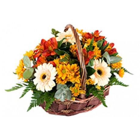 Cesta de flores, DK#BKT Cesta de flores