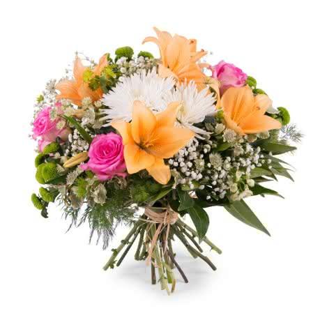 Ramo Día de la Madre, Ramo primaveral con Anastasias y Lilium