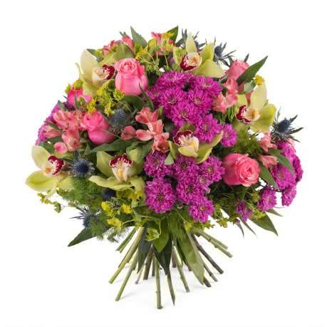 Toscana, Ramo con rosas y orquideas