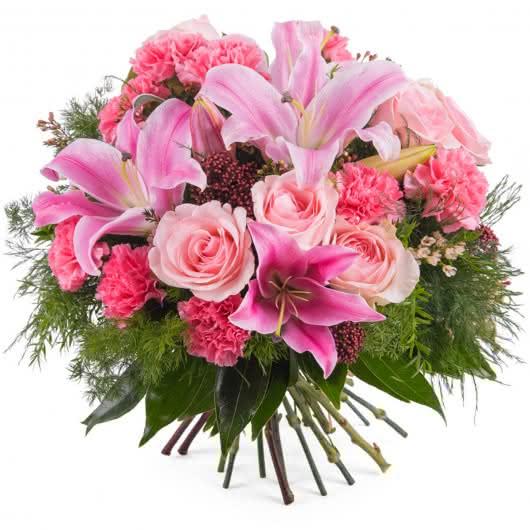 ramo dominica ramo variado con rosas y lilium - Imagenes De Ramos De Flores